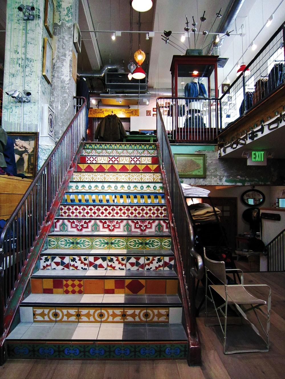 Escalier carreau ciment excellent stickers carreaux de - Escalier carreaux de ciment ...